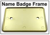 Yellow Gold Badge Frame for Name Badges
