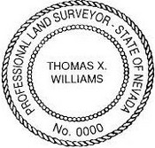 Nevada State Surveyor Stamp