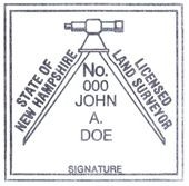 New Hampshire Surveyor Stamp