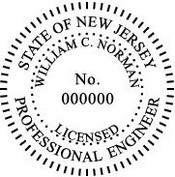 New Jersey Engineer Embossing Seal