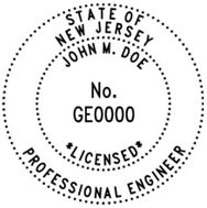 New Jersey Architectural stamp