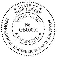 New Jersey Pre-Inked Surveyor stamp