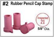 Rubber Pencil Cap Stamp