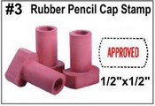 Rubber Pencil Cap Stamp