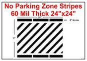 "24"" No Parking Zone Stripes"