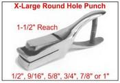 "XLarge Punch Round Holes - up to 1"""