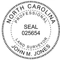 North Carolina State Surveyor Stamp