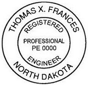North Dakota Architect Embossing Seal