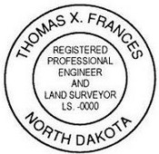 North Dakota State Surveyor Stamp
