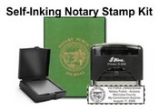 Notary Stamp Self-Inking Notary Public Stamp Kit