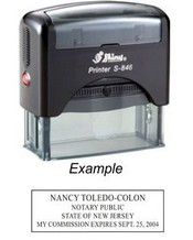 NEW JERSEY Self Inking Notary Public Stamp