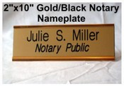 Notary Public Nameplate