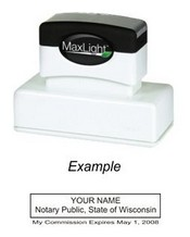 Notary Stamp Wisconsin Pre Inked