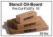 "Stencil Board - 6"" x 20"" - 50 lb pak, 670 Sheets"