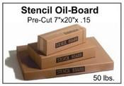 "Stencil Board - 7"" x 20"" - 50 lb pak, 570 Sheets"