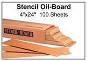 "Stencil Oil Board - 4"" x 24"" - 100 Sheets"