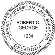 Oklahoma State Surveyor Stamp