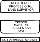 Oregon State Surveyor Stamp