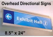 Overhead Wall Mount Signs