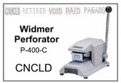 P-400-C Widmer CNCLD Perforator