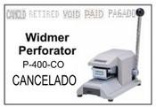 P-400-CO Widmer CANCELADO Perforator