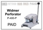 P-400-P Widmer PAID Perforator