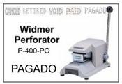 P-400-PO Widmer PAGADO Perforator