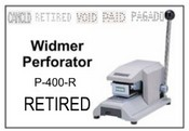 P-400-R Widmer RETIRED Perforator