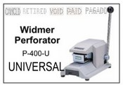 P-400-U Widmer UNIVERSAL Perforator