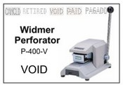 P-400-V Widmer VOID Perforator