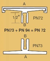 PN-72-12 Architectural Corridor Sign Frame