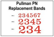 Pullman Number Replacement Bands