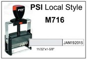 PSI M716 Self Inking Local Dater
