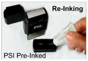 PSI RE-INKING INSTRUCTION - Maxlight Pre-Inked Stamp - Re-Inking