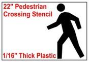 Pedestrian Stencil