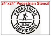 Pedestrian Crossing Symbol Stencil