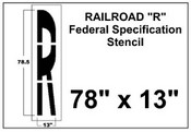 Federal Spec Railroad Stencil