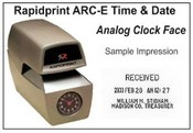 ARC-E Rapidprint Analog Time Stamp