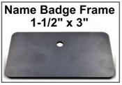 """1.5x3 Badge Frame Frame only Black Badge Frame, 1.5""""x3"""""""