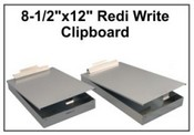 "8-1/2""x12"" Redi Write-On Clipboard"