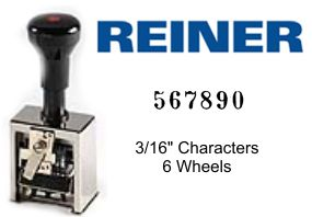Reiner 316, 6-Wheel Numbering Machine