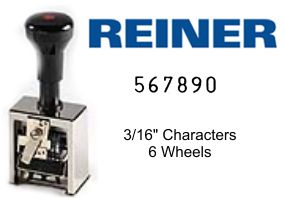Reiner 317, 6-Wheel Numbering Machine