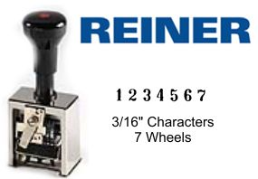Reiner 318, 7-Wheel Numbering Machine