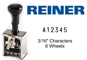 Reiner 6A A-J 6-Wheel Numbering Machine