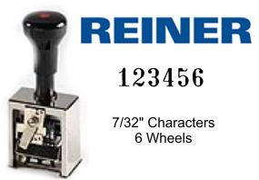 Reiner 732/7 7-Wheel Numbering Machine