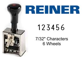 Reiner 733 6-Wheel Numbering Machine