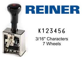 Reiner 7A K-T 7-Wheel Numbering Machine