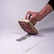 70607-LG Large Ribbed Rocker Hand Stamp