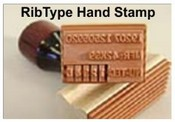 79075-8 Ribbed Hand Stamp