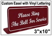 """3"""" x 10"""" Easel Tabletop With Vinyl Lettering"""